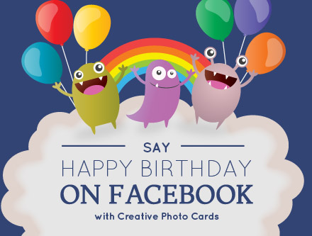 Say Happy Birthday On Facebook With Photo Cards A Collage Or Card Containing All Past Memories Will Make Your Loved Ones Move And