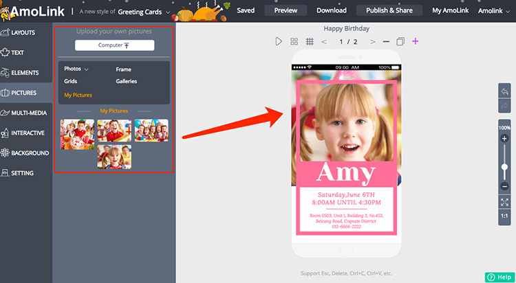 How to Send a Birthday Card on Facebook for Free AmoLink – Free Birthday Cards with Photo Upload