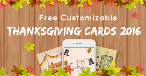 free customizable thanksgiving cards 2016 amolink - Free Thanksgiving Cards