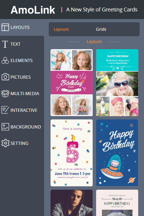 Free Online Birthday Card Maker Amolink